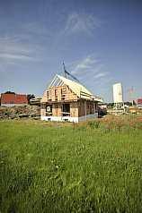 Haus im Rohbau, noch nicht fertiggestellt