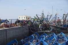 Ankunft eines Fischerbootes
