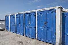 Lagerräume Hafen Meer