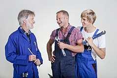 Drei Handwerker