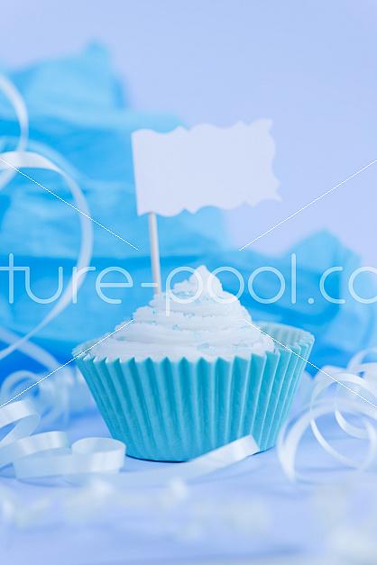 Cupcake mit Fähnchen