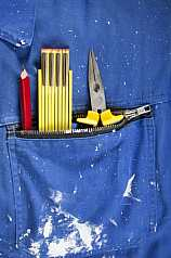 Bleistift/Meterstab/Zwickzange