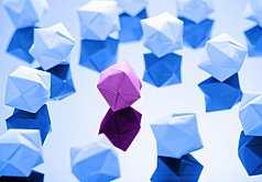 Origami, Ballon aus Papier gefaltet