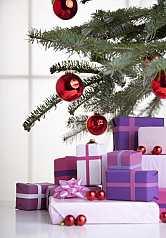Geschenke unter Christbaum