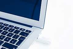 USB Stick im Laptop