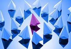 Origami, Diamanten aus Papier gefaltet