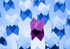 Origami, Fortune-Teller aus Papier gefaltet