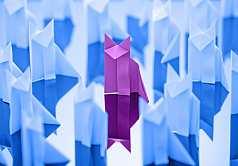 Origami, Fuchs aus Papier gefaltet