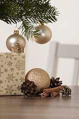 Weihnachtsdekoration Hochformat
