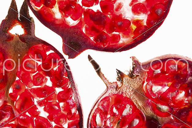 Granatapfelscheiben, mehrere