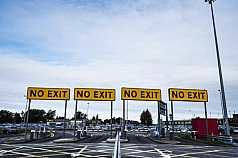 Parkplatz Shannon Airport Irland